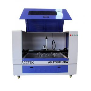 small business machinery AK1390F 20w 30w laser engraver for metal fiber laser marking machine