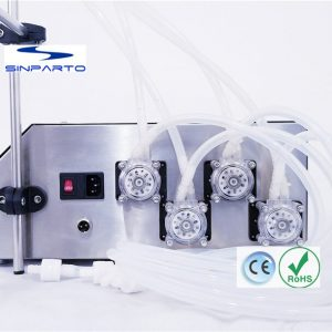 2018 new digital control liquid filling equipment for small business peristaltic pump filling machine 0.5-500ml/min with 4 heads