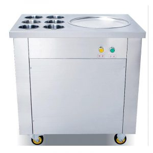 Round Pan Thai High quality convenient 1+6 keep fresh tanks thai business ice cream continuous freezer rolls machine