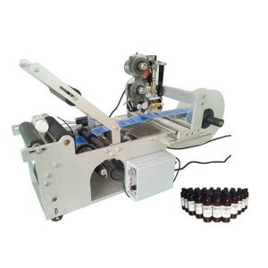 High efficiency semi auto round bottle labeling machine with date printing machine