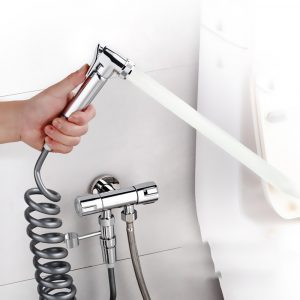Portable Bidet Sprayer ABS Handheld Bath Accessories for Bathroom Hand Sprayer Shower Head Hand Bidet Faucet Self-Cleaning