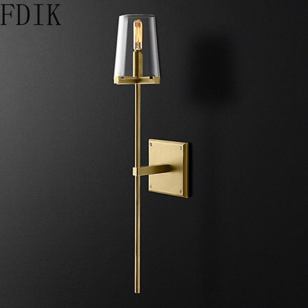 Modern Simple Gold Wall Lamp Vintage Loft Decor Light Fixtures for Home Bedroom Living Room Corridor Stairs Industrial Lighting
