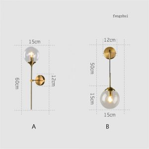 Modern loft LED wall lamp bedroom bedside corridor Nordic led indoor wall Lights Lighting glass hanging lamp luminaire fixtures