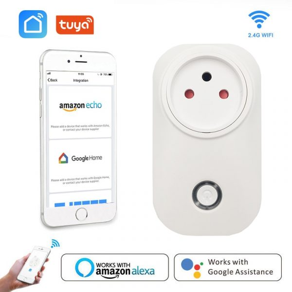 Wifi Smart Plug Israel IL Smart Socket Outlet 16A Voice Control Timing Smart Life App Works With Alexa Google Home IFTTT Tuya