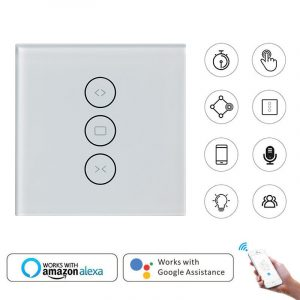 for Electric Motorized Curtain Blind Roller Shutter WiFi Smart Curtain Switch Smart Life Tuya Works with Alexa and Google Home