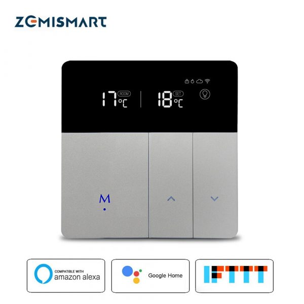 Tuya WiFi Electric Floor Heating Thermostat Alexa Google Home Enable Smart Control external Temperature Controller 16A 110v 240v