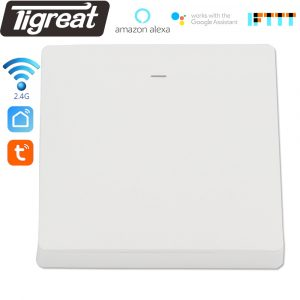 Smart Light Switch Button EU UK Wifi Plug Wireless Power Wall Socket Remote Control Tuya App Alexa Google Home Assistant IFTTT