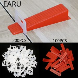 300pcs Plastic Ceramic Tile Leveling System 200 Clips+100 Wedges Tiling Floor Wall Carrelage Tools Clips Spacers Locator Leveler