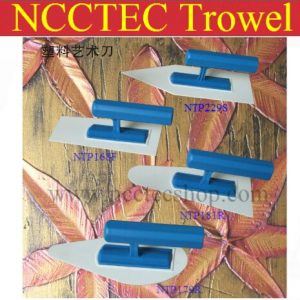 [sharp head] NCCTEC plastic trowel FREE shipping | 220*90mm Art paint batch knife diatom mud plastering trowel wall spatula tool