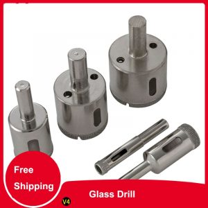 Glass Drill Bit Set Diamond Drill Bit Set Tile Marble Glass Ceramic Hole Saw Drilling  Bits Electric drilling tool