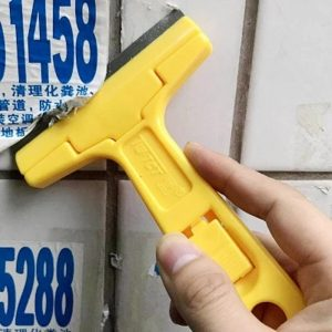 Portable Handheld Scraper Squeegee Putty knife for Glass Floor Tiles Wall cleaning tool with 10pcs Carbon steel blade