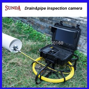 Pipe Sewer drain air duct underwater underground plumbing Inspection Camera 9inch LCD monitor 23mm camera head 12pcs LED lights