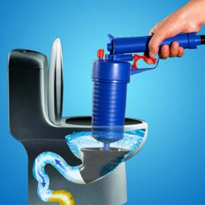 Bathroom High Pressure Air Drain Blaster Gun Powerful Toilet Sewer Dredge Plunger Auger Cleaner Powerful Plumbing Tools