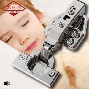 AOBT 1pcs Hinge Stainless Steel Door Hydraulic Hinges Damper Buffer Soft Close For Cabinet Door Cupboard Furniture Hardware