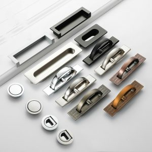Tatami Hidden Door Handles Zinc Alloy Recessed Flush Pull Cover Floor Cabinet Handle Black Bronze Furniture Handle Hardware