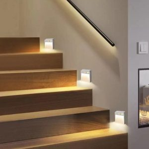 Motion Sensor Wall Lamp Battery Power Wall Lights Stairs LED Light Corridor Aisle LED Night Indoor Lighting For Doorway