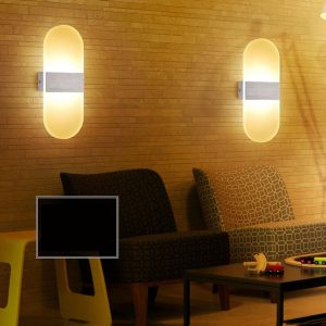 Acrylic LED Wall lamp 3W 5W 6W Modern Bedroom Bedside decoration wall sconces light for home stairs loft LED light indoor decor