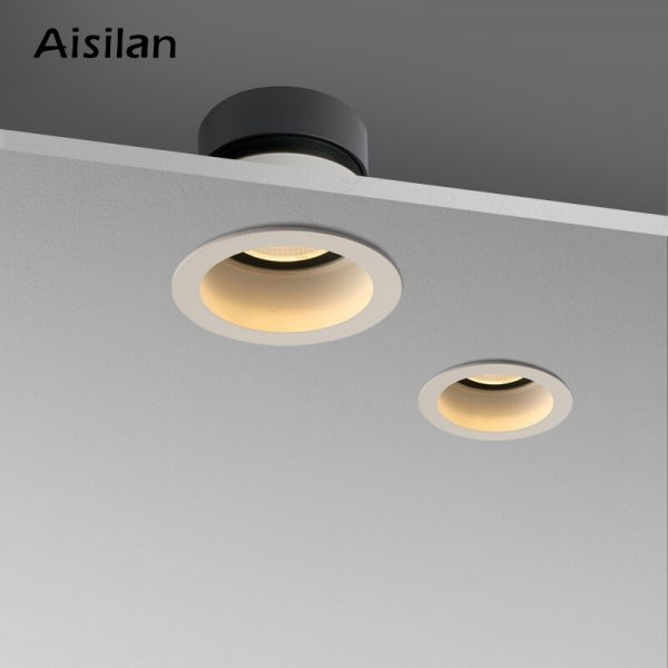 Aisilan Recessed LED Nordic Anti-fog Downlight Angle Adjustable Built-in LED Spot light AC90-260V 7W for Indoor Lighting