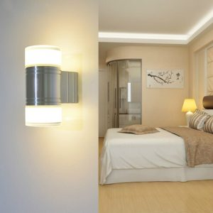 6W LED Wall Light Acrylic abajur Aluminum Material Indoor Sconce AC110-220V Free Shipping