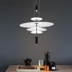 Modern Acrylic LED Pendant Light Shadow Dining Room Kitchen Light Designer Hanging Lamps Indoor Lighting