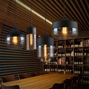 Modern Home Decor Pendant Lights Nordic Clear Glass Lampshade Pendant Light Indoor Lighting Living Room Hanglamp Light Fixture