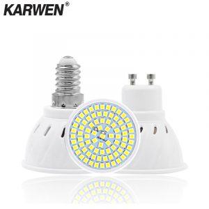 KARWEN  Lampada LED Lamp GU10 MR16 E27 E14 Bombillas LED Bulb 220V 240V Spotlight 48 60 80 LED 2835 SMD Lampara Light