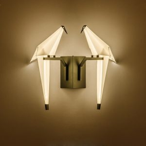 LED Postmodern Iron Acryl Love Bird LED Lamp LED Light Wall lamp Wall Light Wall Sconce For Bedroom Corridor