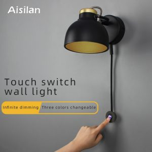 Aisilan LED wall lamp minimalist  bedside lamp Infinite dimming for living room bedroom corridor setting wall light