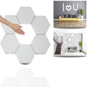 LED Quantum Lamp Modular Touch Sensitive Sensor Lighting Decorative Wall Lamps DIY Hexagonal Magnetic Honeycomb Night Lights