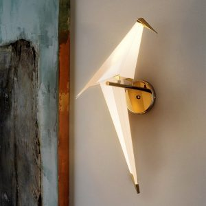 Modern Creative Bird Wall Lights Golden Fancy LED Wall Lamps for Children Room Restaurant Bedroom Livingroom Lighting luminaire