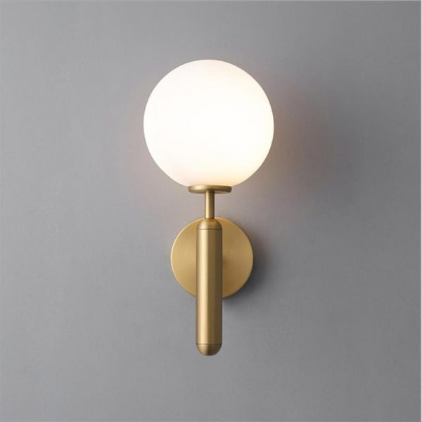 Decorative Led Wall Lights Fixtures Nordic Glass Ball Wandlamp Up Down Bathroom Mirror light Gold Black Modern Round Wall Lamp