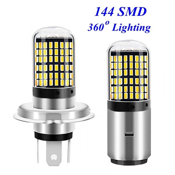 H4 H6 LED Motorcycle Headlight Bulb High Quality 144 LED BA20D Hi/Lo Lamp 9V – 80V Scooter ATV Light For YAMAHA KTM Honda Suzuki