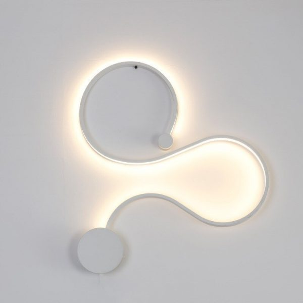 Sconce/led wall lights dimmable/bedroom/bedside wall lamps modern/black/white wall lamps for home/living room/foyer aluminum