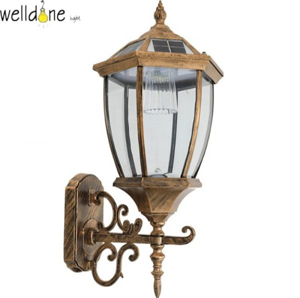 LED water proof alluminum black/copper color  wall lamp for garden europea style good quality free shipping