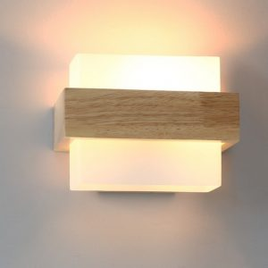 Loft Decor Wood Glass Wall Sconce Lights Modern LED Wall Light Fixtures For Bedroom Wall Lamp Home Lighting Lamparas Luminaire