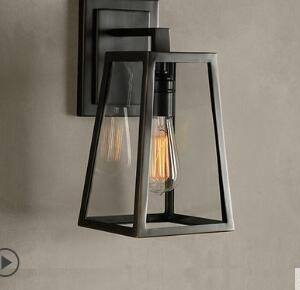 Industrial wind retro creative restaurant bar aisle balcony porch outdoor waterproof glass wall lamps
