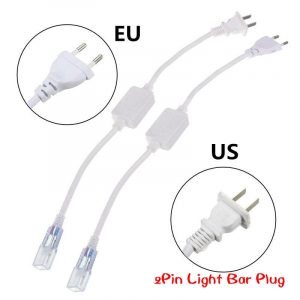 6mm Cable Strip Light 5050 2835 3014 5630 SMD 2pin Light Bar Plug LED Lamp Belt Plug Accessories US/EU Plug With Needle 220-240V