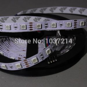 Hight light LED Strip, LED lamp  No-waterproof, SMD5050, 60LED /m; only RGB strip with connector   free ship
