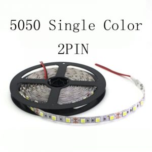 1 Roll 5M Waterproof 12V LED Strip Light 5050 RGB Pink Ice Blue Red Green Diode Tape LED Lamp Home Holiday Decoration 5M/lot
