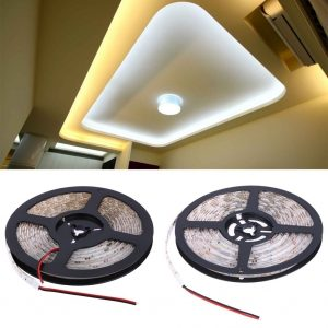 Led Night Lamp 2M/5M RGB LED Strip Light 12V 2835 Cool White 120Led/300Led SMD Flexible Led String Light Outdoor Home Decoration