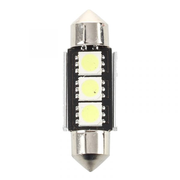 2X 36MM Bulb Lamp Super Bright 3 LED White Car Interior Reading Dome CANBUS Marker Lamp Turn Side Bulbs