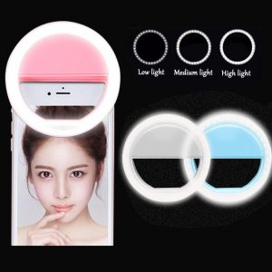 Selfie LED Ring Fill Light Portable Mobile Phone 36 LEDS Selfie Lamp 3 levels Lighting Luminous Ring Clip For All Cell Phones