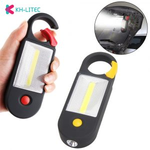 KHLITEC Mini Portable Lantern Tent Light COB LED Emergency Lamp Waterproof Hanging Hook Flashlight For Camping 2 Modes Use AAA