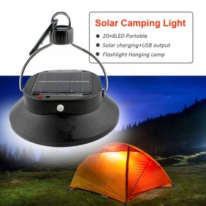 Outdoor Camping Lantern Portable Solar Powered Recahrgeable 28 LED Camping Hiking Tent Light Rechargeable Night Lamp