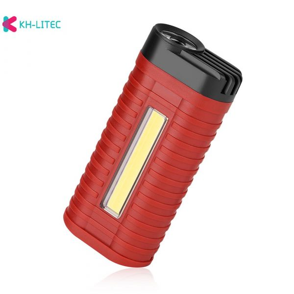 Mini 2 Modes led work light Portable Light by 3*AAA Battery COB LED Flashlight Torch for Camping Hunting Outdoor