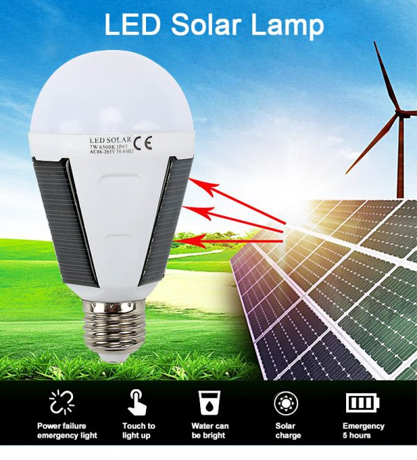 Solar light outdoors LED lighting portable bulb lamp emergency light garden corridor light indoor emergency lighting bulb lamp