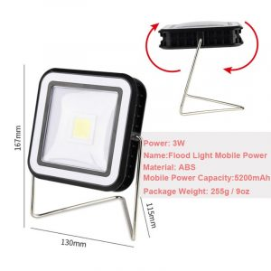 Solar powered LED Flood light Camping light  LED Portable Tents Umbrella Night Lamp Hiking Lantern Household Emergency Lights