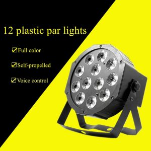12pcs plastic flat par light led par light RGBW4in four-in-one professional stage lighting dance party DJ equipment disco