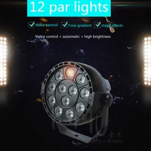 The New LED Flat Par 12x3W RGBW Lighting Professional LED Stage Lights Effect DMX512 Master-Slave DJ Disco Party