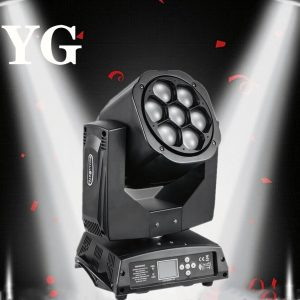 LED 7X18W Wash Light RGBWA+UV 6in1 Moving Head Stage Light DMX Stage Light DJ Nightclub Party Concert Stage Professional